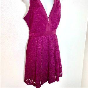 FREE PEOPLE    purple V neck tank dress size small